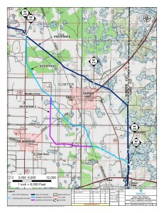 Seminole Land Deviation, Sumter County, Lake County, Florida, in Alternatives, by Sabal Trail Transmission, for FERC Docket No. PF14-1-000, 15 November 2013, converted by SpectraBusters