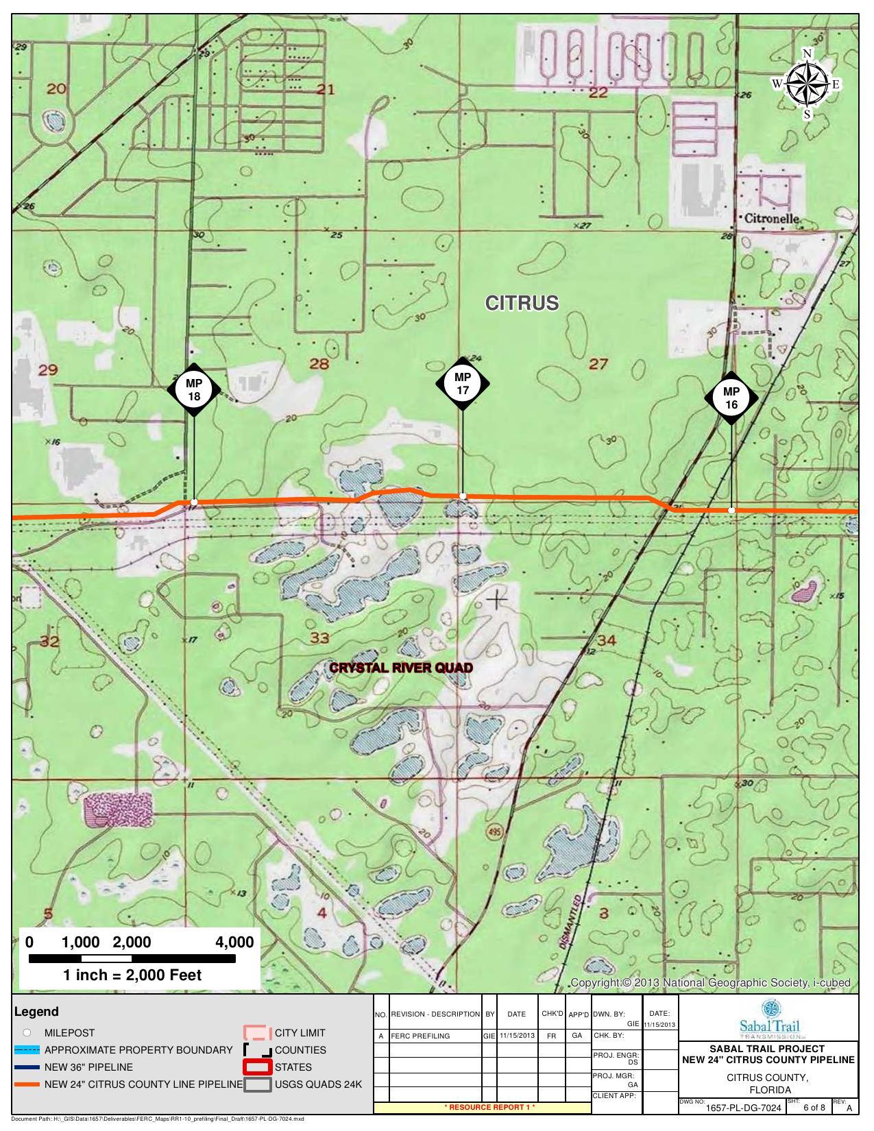 Citronelle Crystal River Quad Citrus County Pipeline Citrus - Florida quad map