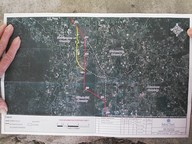 Sabal Trail map of three pipeline routes through Gilchrist County, Florida, in Gilchrist County Commission, by John S. Quarterman, for SpectraBusters.org, 20 February 2014