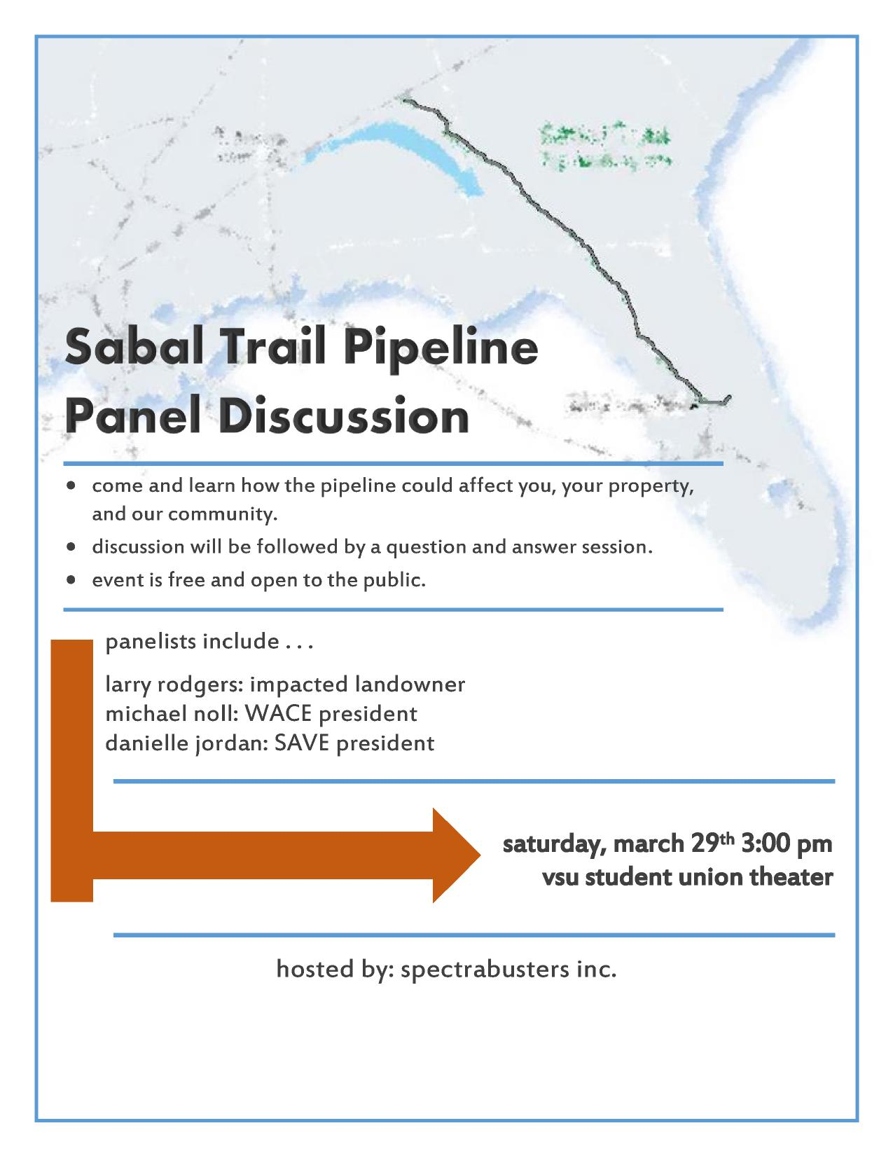 1275x1650 Discussion followed by questions and answers, in Sabal Trail Pipeline Panel Discussion, by Danielle Jordan, for SpectraBusters.org, 29 March 2014