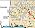 72x59 Green: PF14-6 Hillabee Expansion Project; Red: PF14-1 Sabal Trail Transmission, in Alabama Methane: SOUTHEAST MARKET PIPELINES PROJECT, by FERC, for SpectraBusters.org, 10,11,12 March 2014