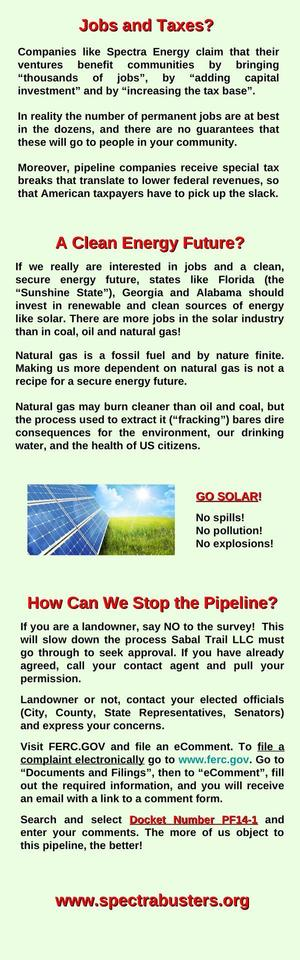 300x960 SabalXTrailXsideXpanelX2-001, in SpectraBusters poster about Sabal Trail fracked methane pipeline, by Michael G. Noll, for SpectraBusters.org