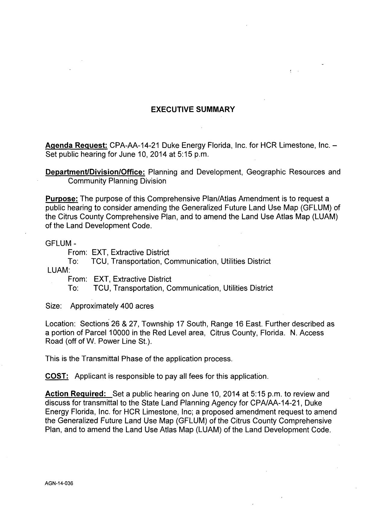 1271x1690 Executive Summary, in Re-designation to TCU, Transportation, Communication, Utilities District, by Duke Energy, for SpectraBusters.org, 27 May 2014
