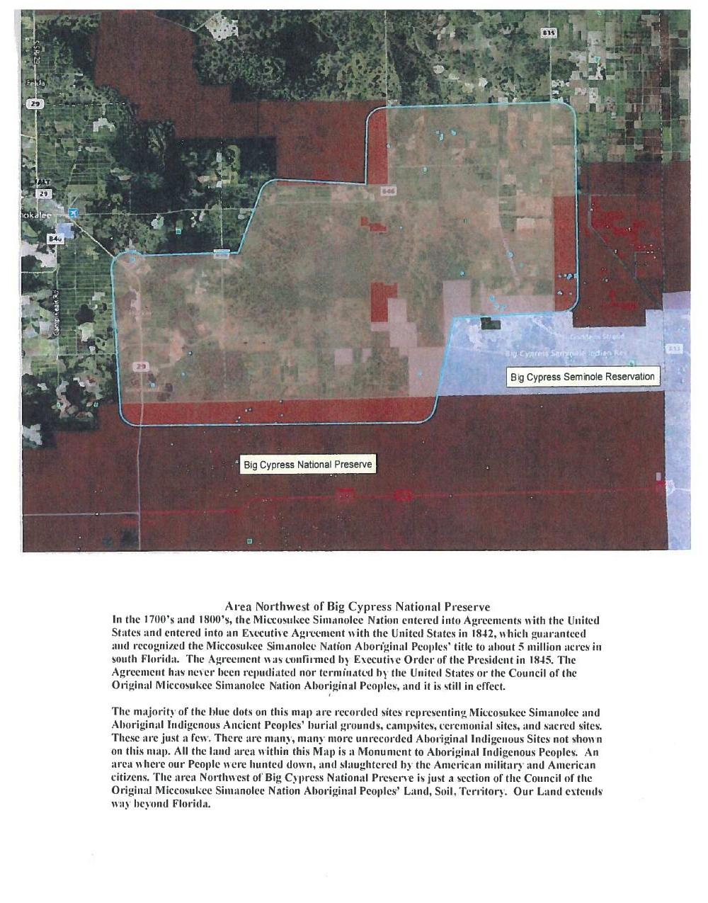 1000x1275 Area Northwest of Big Cypress National Preserve, in Council of the Original Miccosukee Simanolee Nation, by John S. Quarterman, for SpectraBusters.org, 21 November 2013
