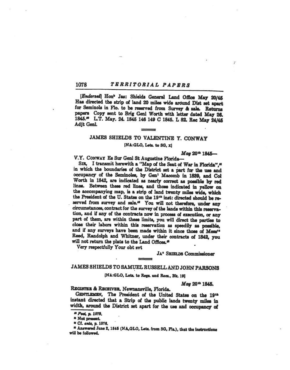 1000x1275 1845 Territorial Papers, in Council of the Original Miccosukee Simanolee Nation, by John S. Quarterman, for SpectraBusters.org, 21 November 2013