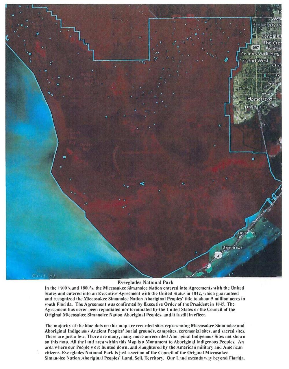 1000x1275 Everglades National Park, in Council of the Original Miccosukee Simanolee Nation, by John S. Quarterman, for SpectraBusters.org, 21 November 2013