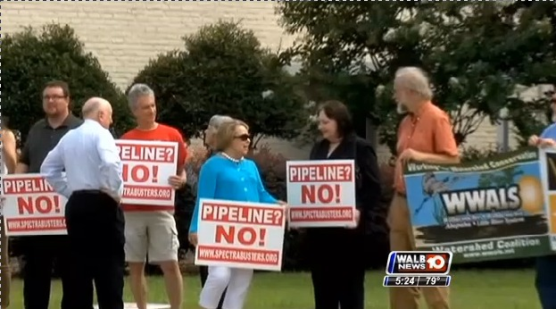 623x346 WWALS Watershed Coalition, in Stills from WALB about Leesburg pipeline hearing, by John S. Quarterman, for SpectraBusters.org, 10 July 2014
