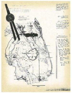 300x383 1845 original land map, in Council of the Original Miccosukee Simanolee Nation, by John S. Quarterman, for SpectraBusters.org, 21 November 2013