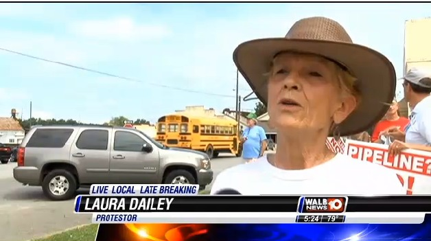 628x351 Laura Dailey, in Stills from WALB about Leesburg pipeline hearing, by John S. Quarterman, for SpectraBusters.org, 10 July 2014