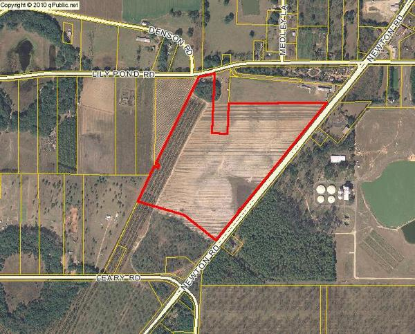 600x483 Parcel 00312/00001/01S on Lily Pond Road and Newton Road, in We grow increasingly concerned, by Dougherty County Commission, 25 August 2014