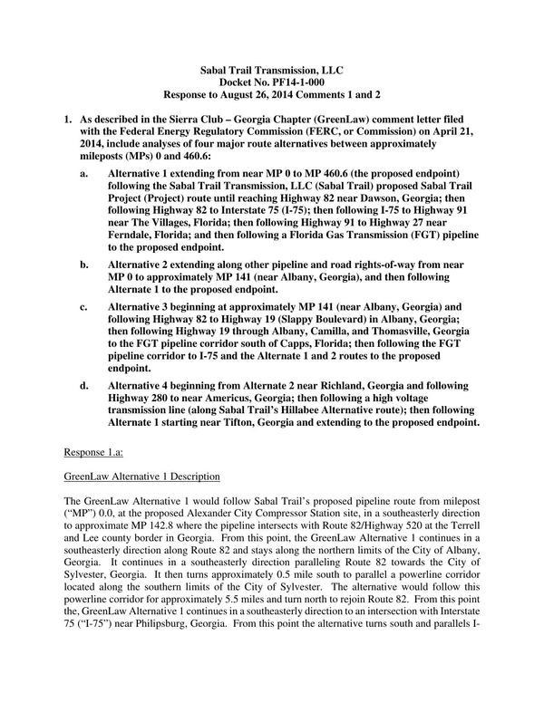 600x776 Greenlaw ernative 1 (1 of 3), in Response to FERC directive of 26 August 2014, by Sabal Trail Transmission, for SpectraBusters.org, 15 September 2014