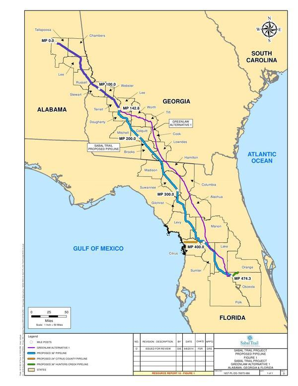 600x776 GreenLaw Alternative 1, in Response to FERC directive of 26 August 2014, by Sabal Trail Transmission, for SpectraBusters.org, 15 September 2014