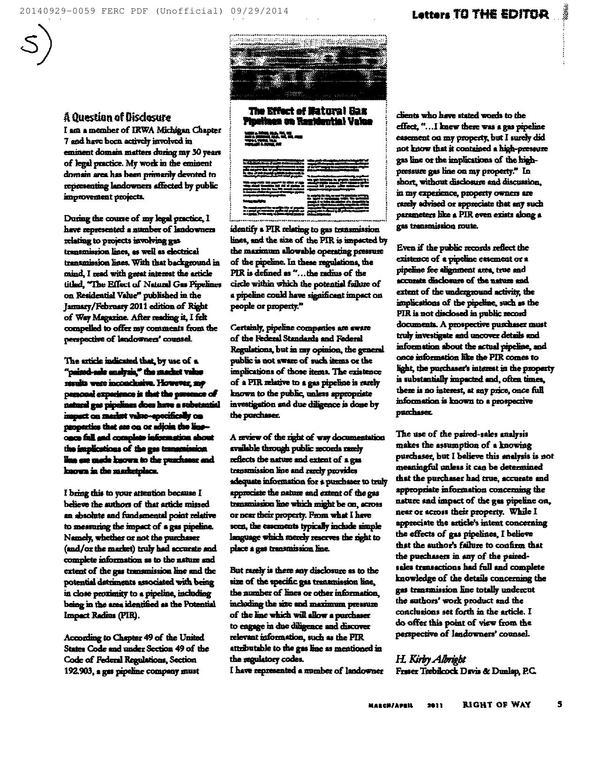 600x773 S: A Question of Disclosure --H. Kirby Albright, in Resurvey all the properties, by Bill Kendall, for SpectraBusters.org, 29 September 2014
