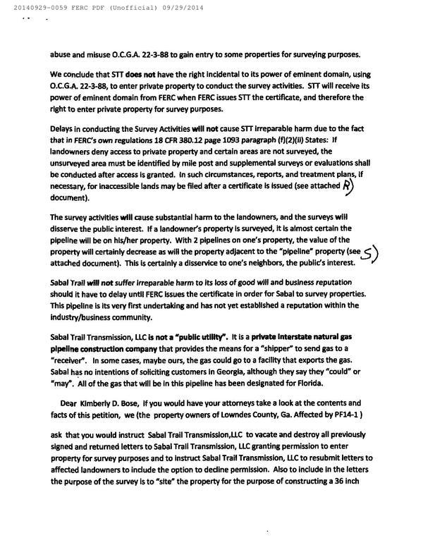 600x773 Sabal Trail cant use Georgia eminent domain, in Resurvey all the properties, by Bill Kendall, for SpectraBusters.org, 29 September 2014
