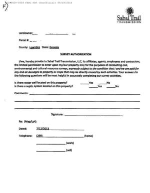 300x387 F: Survey Authorization form, in Resurvey all the properties, by Bill Kendall, for SpectraBusters.org, 29 September 2014