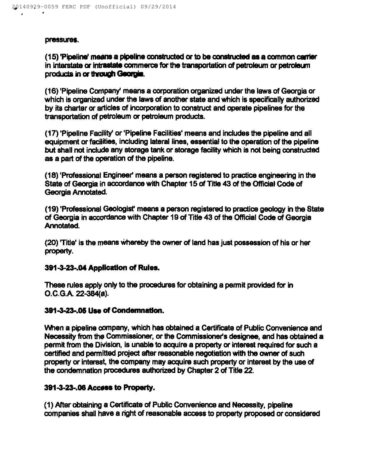 1280x1650 H: GA-EPD Petroleum Pipeline Eminent Domain Permit Procedures (3 of 6), in Resurvey all the properties, by Bill Kendall, for SpectraBusters.org, 29 September 2014