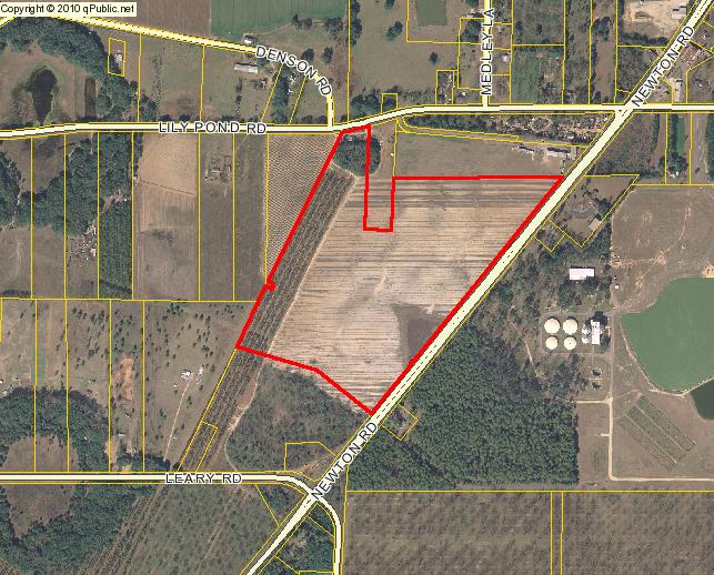643x518 Parcel 00312/00001/01S on Lily Pond Road and Newton Road, in We grow increasingly concerned, by Dougherty County Commission, 25 August 2014
