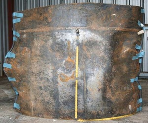 300x249 Figure 4. Photograph of Pipe Segment A2 (external surface) in the as-received condition., in Pilot Grove, MO PEPL explosion, by John S. Quarterman, for SpectraBusters.org, 25 August 2008
