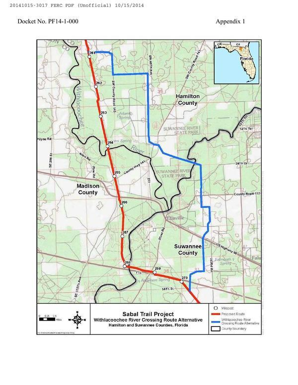 600x776 Withlacoochee River Crossing Route Alternative, Hamilton and Suwannee Counties, Florida, in Sabal Trail Notice of EIS Intent, by John S. Quarterman, for SpectraBusters.org, 15 October 2014