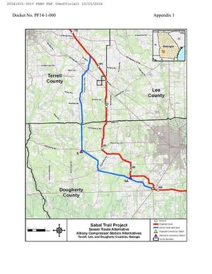 300x388 Sasser Route Alternative, Albany Compressor station Alternatives, Terrell, Lee, and Dougherty Counties. Georgia, in Sabal Trail Notice of EIS Intent, by John S. Quarterman, for SpectraBusters.org, 15 October 2014