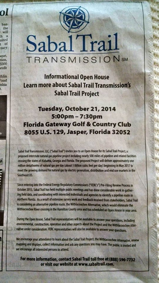 540x960 5-7:30 PM Tue 21 Oct 2014 @ Florida Gateway Golf & Country Club, in Sabal Trail at Jasper, FL Country Club, by John S. Quarterman, for SpectraBusters.org, 21 October 2014