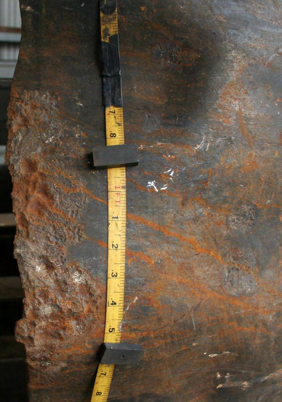 900x1283 Figure 6. Photograph of the external surface of Pipe Segment A2 on the counter-clockwise side of rupture., in Pilot Grove, MO PEPL explosion, by John S. Quarterman, for SpectraBusters.org, 25 August 2008
