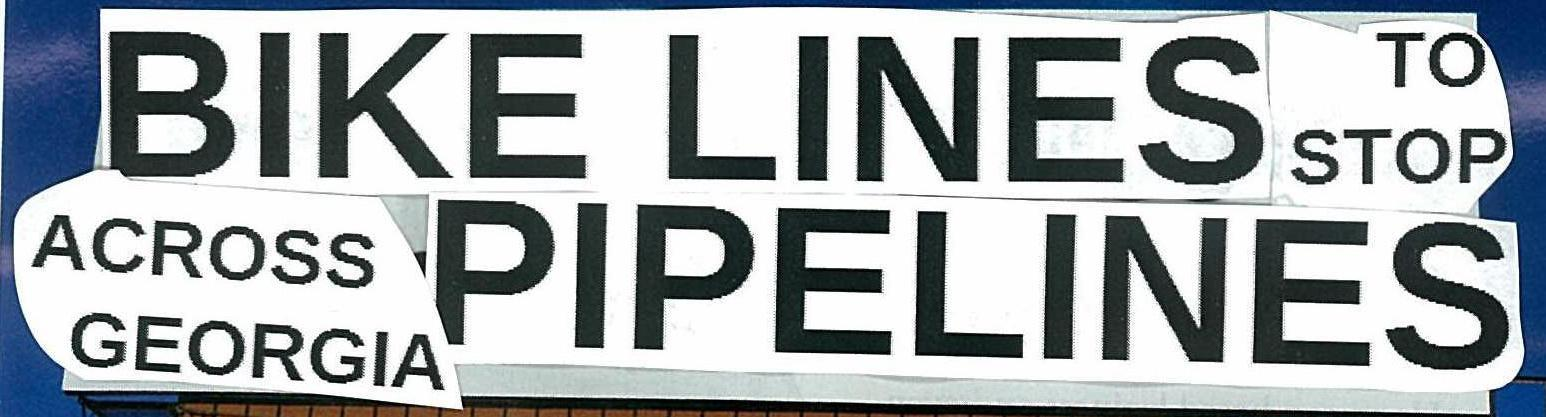 1546x417 Headline, in Bike Lines to stop Pipe Lines, by Gretchen Elsner, 21 November 2014