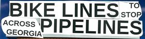 300x81 Headline, in Bike Lines to stop Pipe Lines, by Gretchen Elsner, 21 November 2014