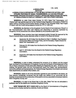 300x387 Resolution WHEREASes, in Resolution No. 14-019 pipeline and compressor station, by Dougherty County Commission, for SpectraBusters.org, 5 November 2014