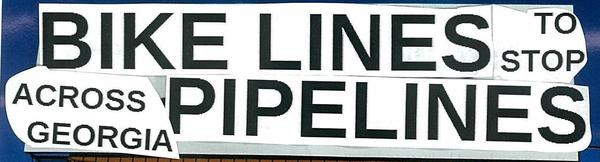 600x162 Headline, in Bike Lines to stop Pipe Lines, by Gretchen Elsner, 21 November 2014