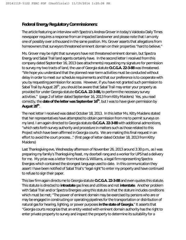 600x776 2014-11-19 Sandra Jones to ferc (1 of 2), in Jones, by Sandra Jones, for SpectraBusters.org, 19 November 2014