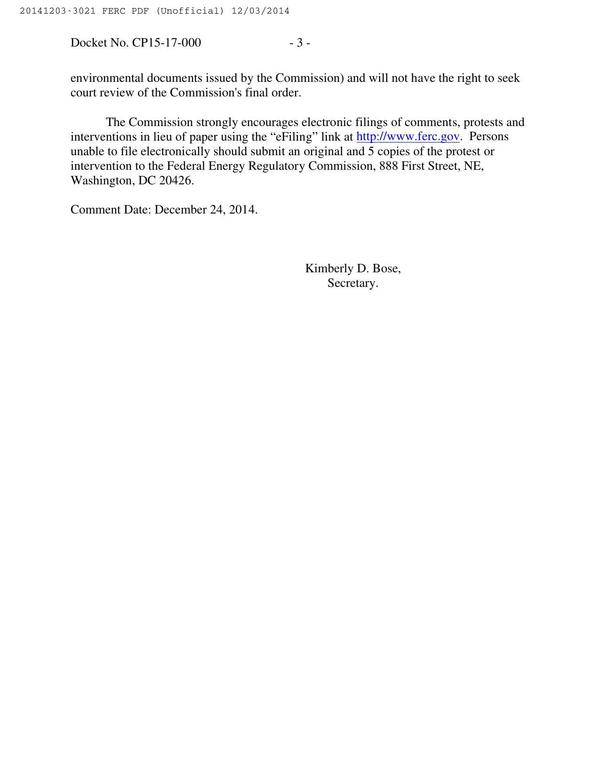 600x776 Electronic filings, in Sabal Trail Notice of Application, by FERC, for SpectraBusters.org, 3 December 2014
