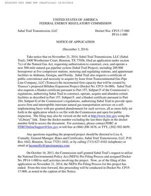 300x388 Take notice, in Sabal Trail Notice of Application, by FERC, for SpectraBusters.org, 3 December 2014