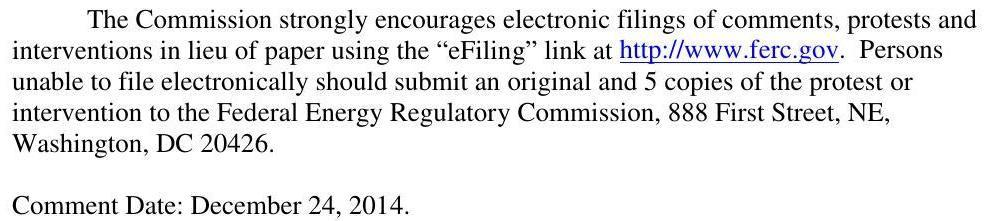 986x221 eFiling by 24 December 2014, in Sabal Trail Notice of Application, by FERC, for SpectraBusters.org, 3 December 2014