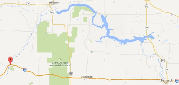 600x287 Google Map, in Bridger Pipeline leak into Yellowstone River, by John S. Quarterman, for SpectraBusters.org, 18 January 2015