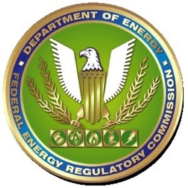 600x600 FERC logo, in LNG, by John S. Quarterman, for SpectraBusters.org, 22 February 2015