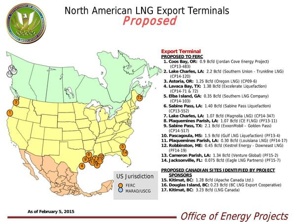 600x450 FERC Proposed LNG Export, in LNG, by John S. Quarterman, for SpectraBusters.org, 22 February 2015