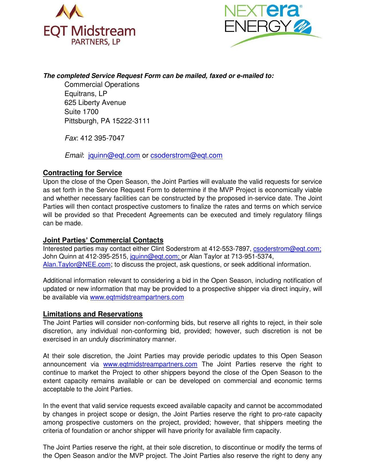 1275x1650 Contracting for Service, in Mountain Valley Pipeline Non-binding Open Season, by EQT Midstream Partners, LLP and NextEra Energy, for SpectraBusters.org, 12 June 2014