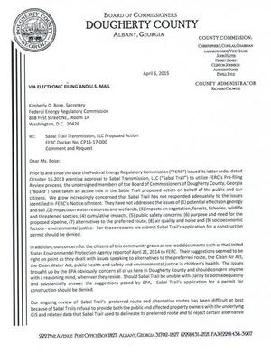 300x391 20150406-5144-30464227-001, in FERC still stonewalling Dougherty County Commission and landowners about Sabal Trail, by John S. Quarterman, for SpectraBusters.org, 6 April 2015