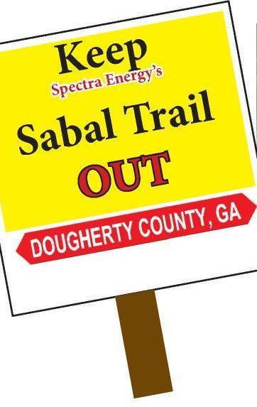 362x573 Keep Spectras Sabal Trail Out, Dougherty County, GA, in Silent Protest to Keep Sabal Trail out of Dougherty County, GA, by John S. Quarterman, for SpectraBusters.org, 17 July 2015