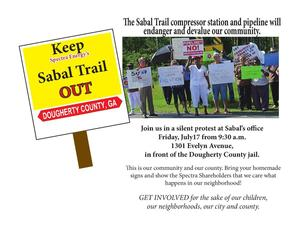 300x225 Silent Protest at Sabal Trail office, in Silent Protest to Keep Sabal Trail out of Dougherty County, GA, by John S. Quarterman, for SpectraBusters.org, 17 July 2015