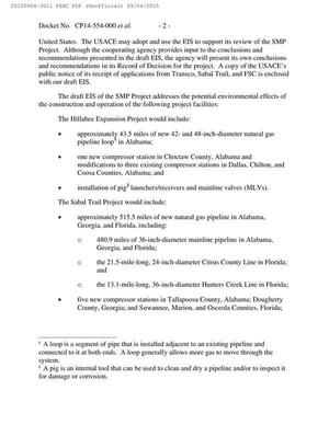 300x388 Pipeline facilities, in Notice of Availability of Draft Environmental Impact Statement, by FERC, for SpectraBusters.org, 4 September 2015