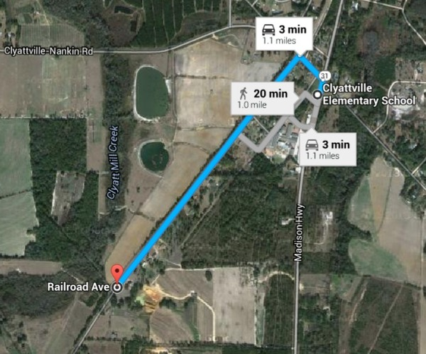 600x498 Railroad Ave. to Clattville Elementary School, in Lowndes County, GA, by Sabal Trail Transmission, for WWALS.net, 14 August 2015