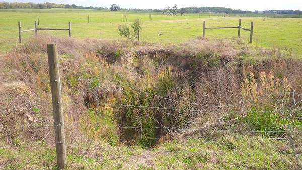 Sinkhole 1230 feet proposed pipeline at MP 380