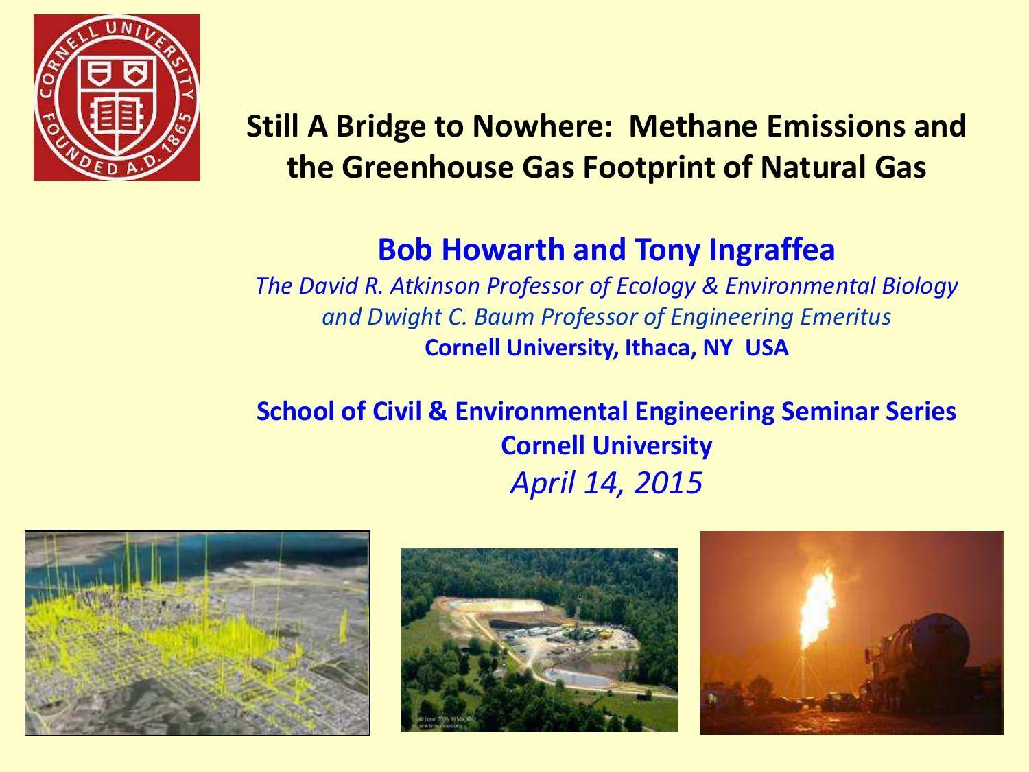 1500x1125 Cover, in Still A Bridge to Nowhere: Methane Emissions and the Greenhouse Gas Footprint of Natural Gas, by Bob Howarth and Tony lngraffea, 14 April 2015