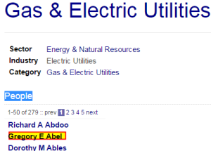 #2 on Ostroff's Gas and Utilities Lobby list is Gregory Ebel CEO of Spectra Energy