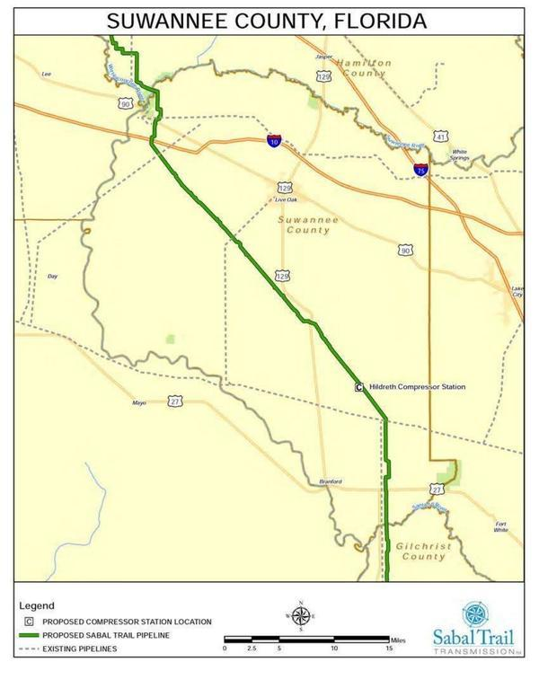 Suwannee County Route Map
