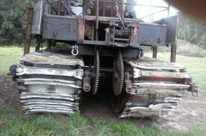 300x198 Picture, treads of vehicle, in Etowah River boring incident, Transco Dalton Expansion Project pipeline, by Troy Harris for Gene Hill, for SpectraBusters.org, 27 April 2016